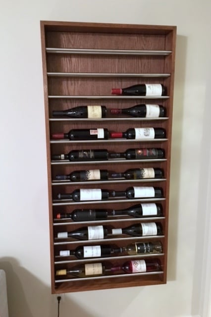 IKEA Brogrund Towel Rail DIY Wall Wine Rack