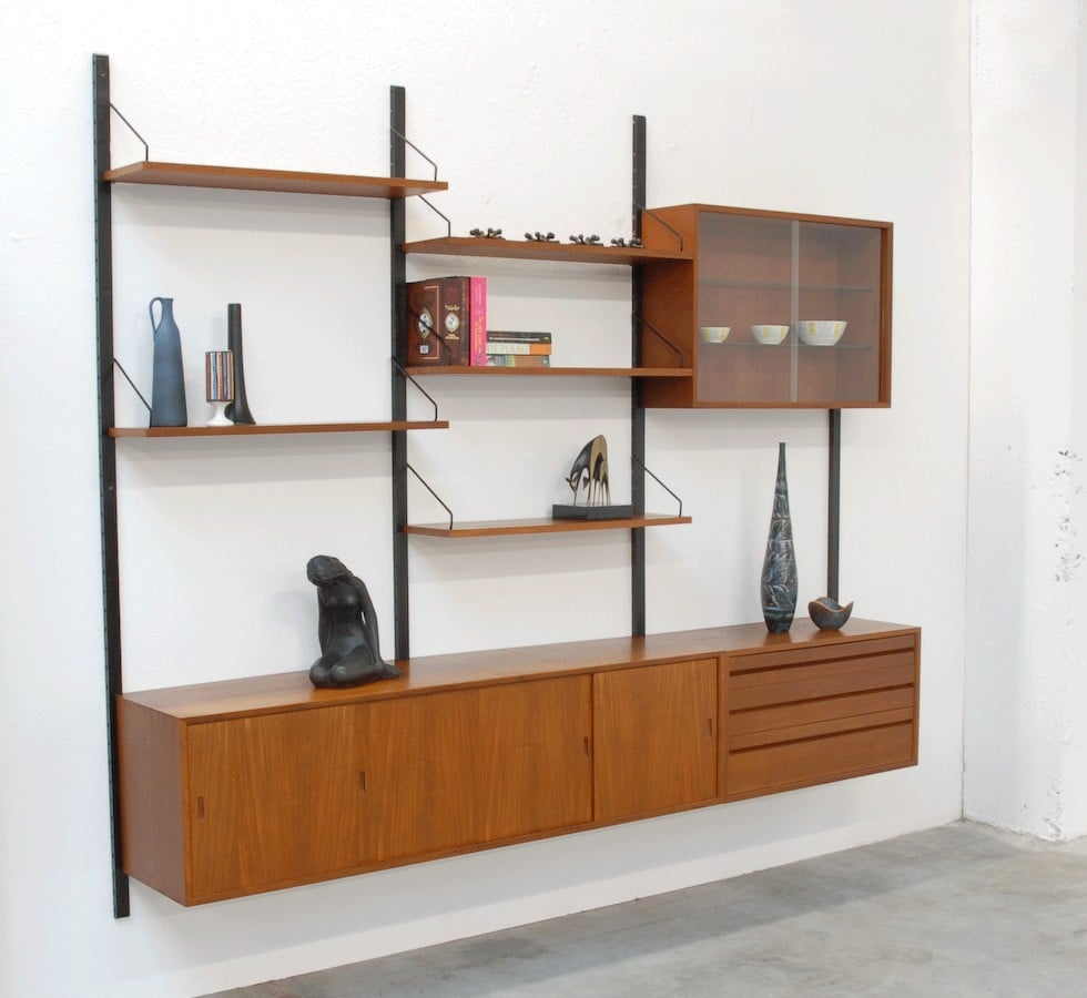 The Royal System Shelving by Poul Cadovius