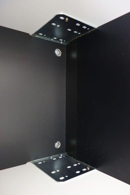 wall unit doors mounted