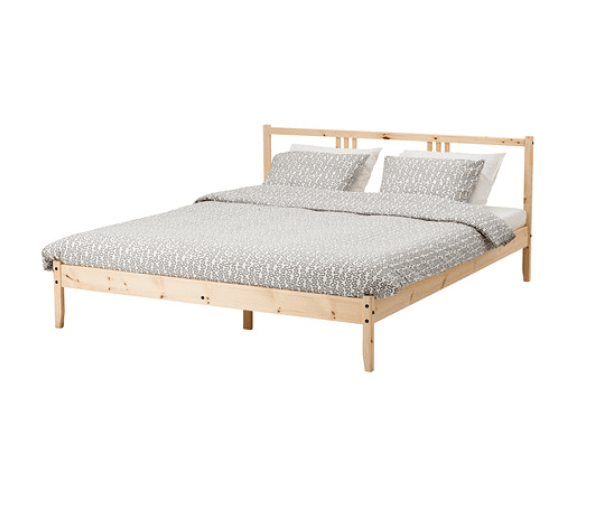 Professional looking FJELLSE upholstered bed hack