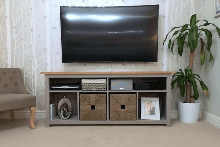 HEMNES Console Table Restyled To TV Unit