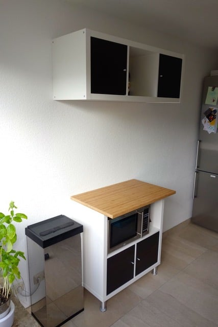 Kitchenette with IKEA Kallax