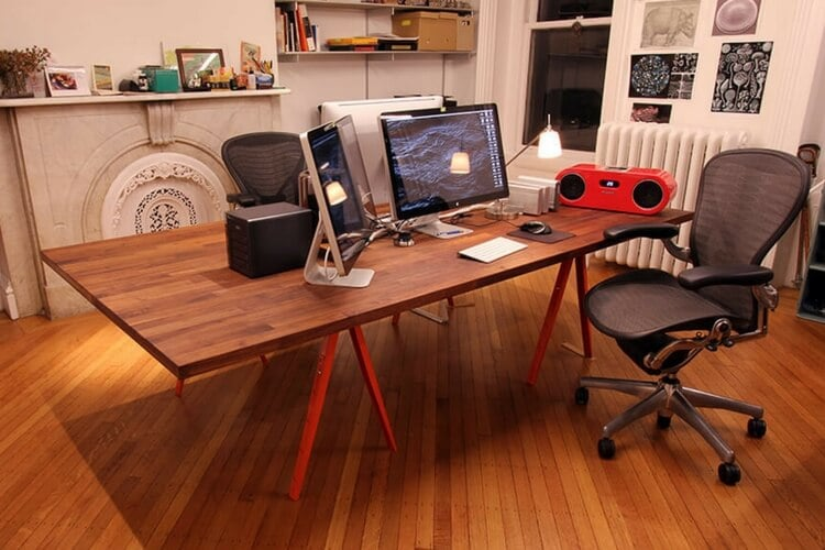 The Beautiful Big Table A Perfect Dual Workstation Ikea