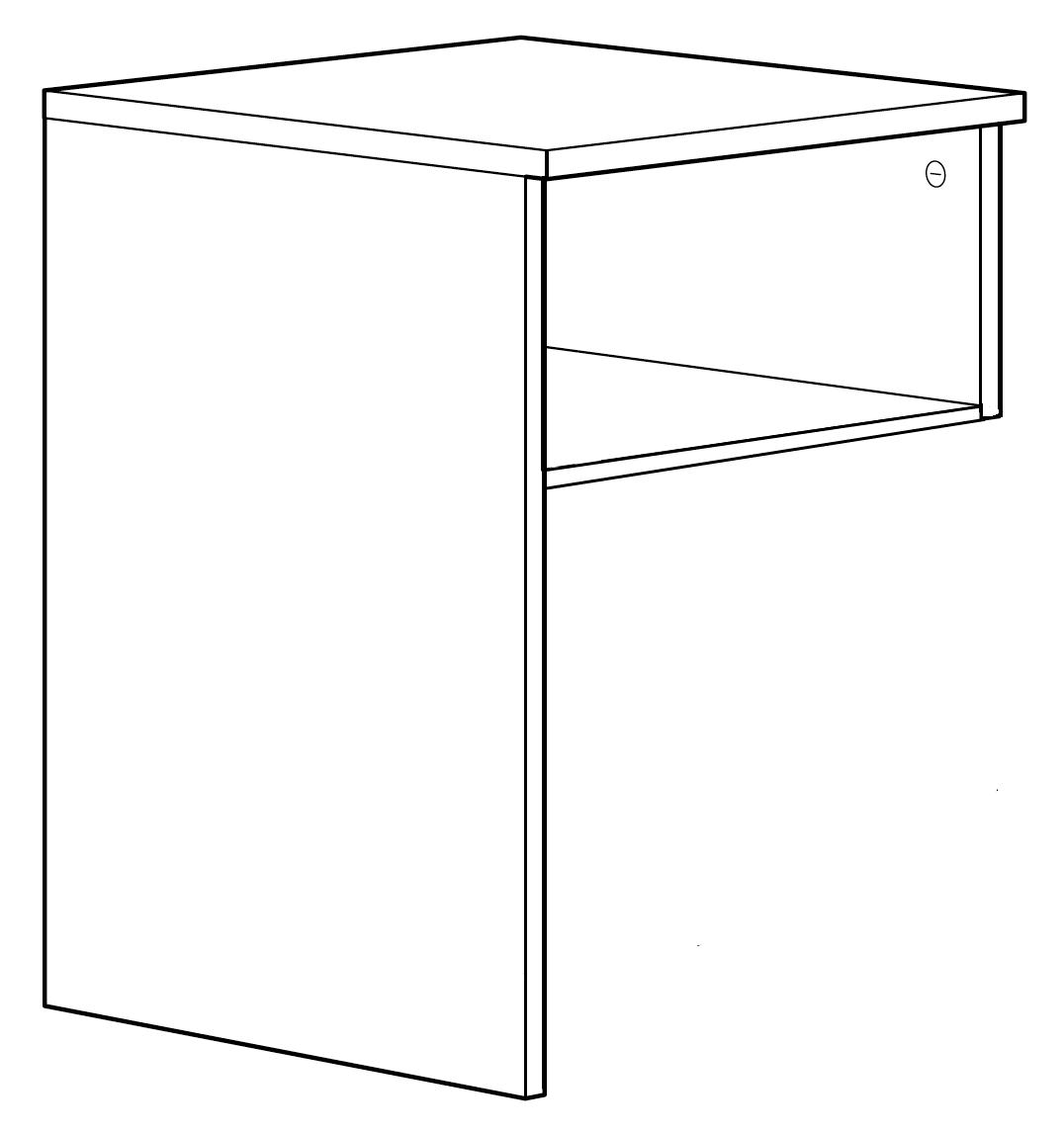 BRIMNES bedside table: Perfected for the BRIMNES storage bed