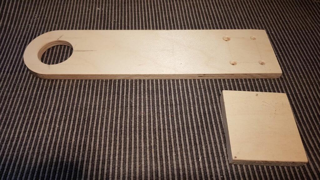 plywood for wardrobe light holder