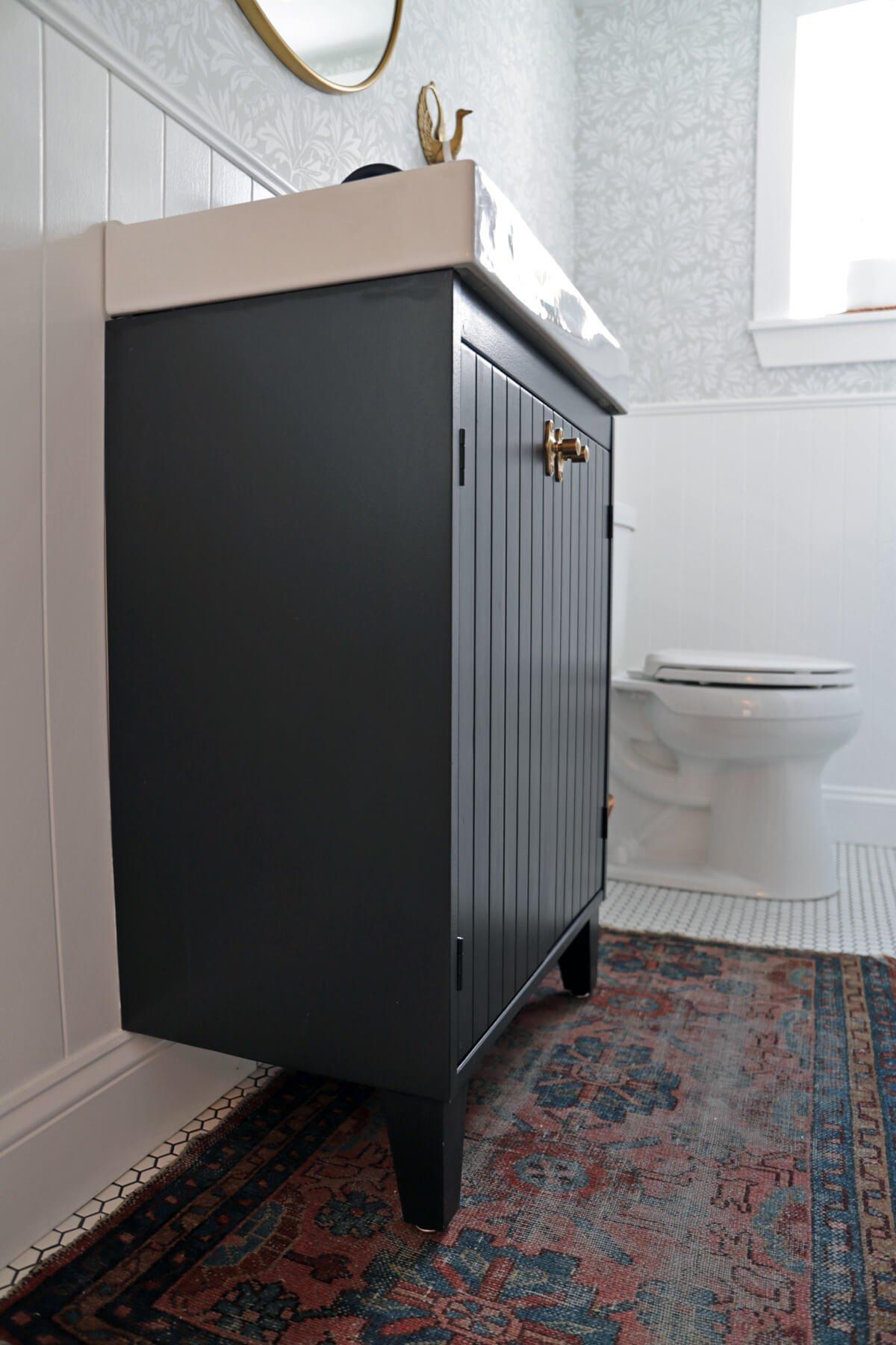 Customizing an IKEA Vanity for a Bungalow Bathroom