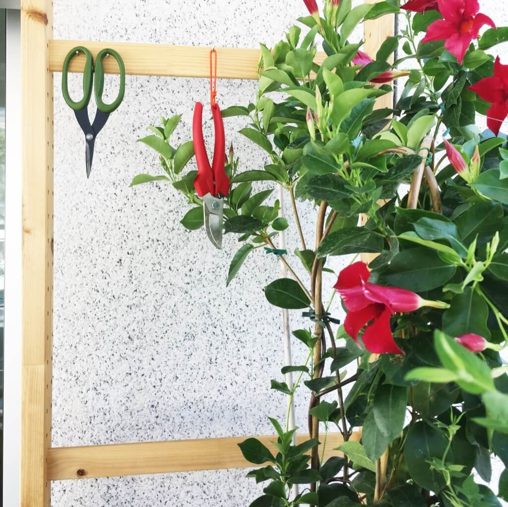 Here's an IKEA idea for balcony garden storage