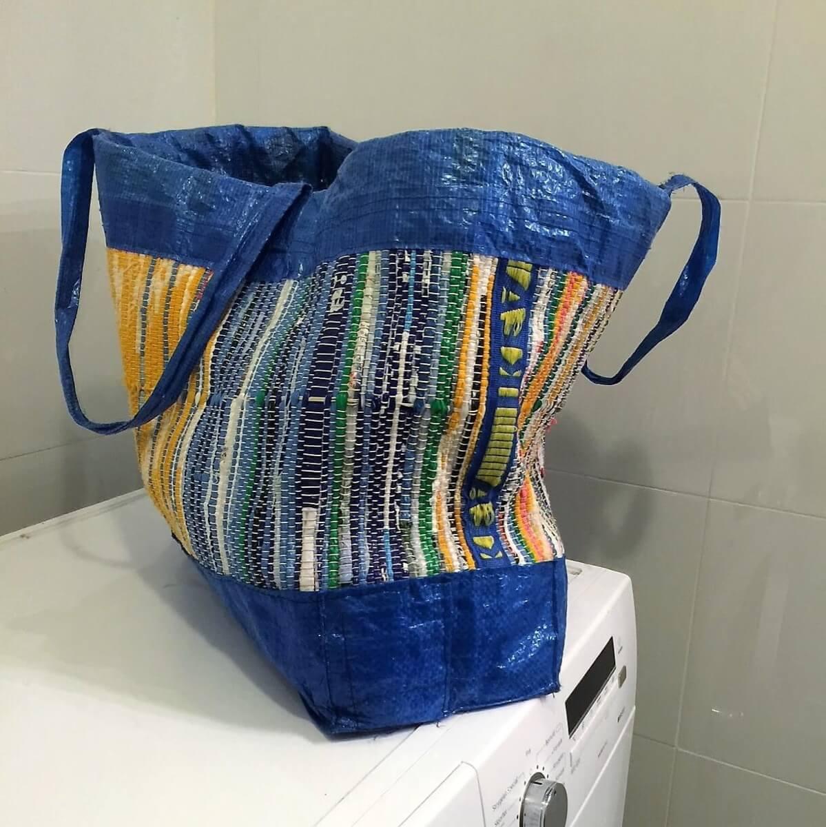 5fe8e961e8 Plastic Fantastic  A woven IKEA bag