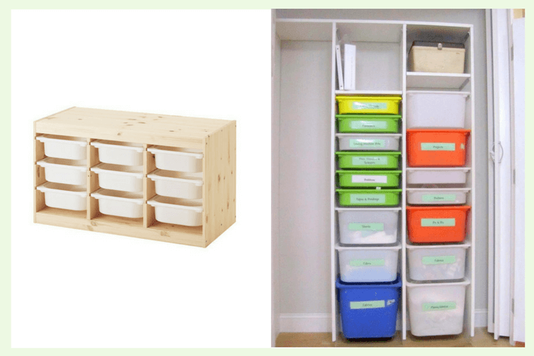 TROFAST: Using IKEA Storage Boxes Without The Frame