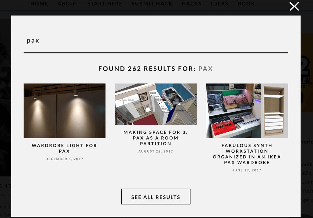 ikeahackers website redesign