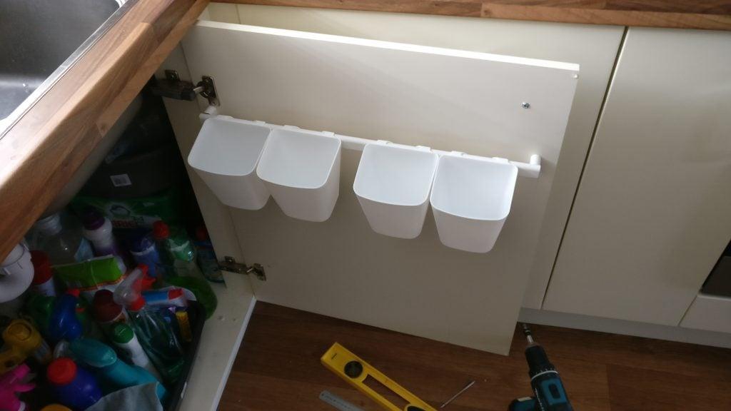 Easy $5.15 Kitchen Door Storage