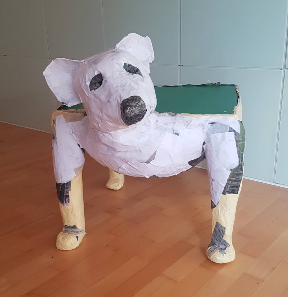 Paper Mache Scuplture -- Furry Friends coffee tables