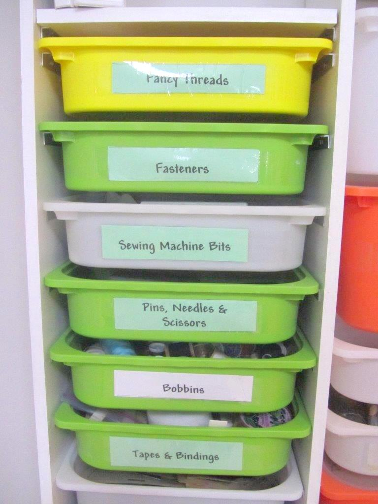 TROFAST IKEA storage boxes used in a built-in