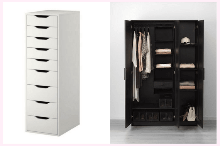 upgrading brimnes wardrobe with drawer units ikea hackers. Black Bedroom Furniture Sets. Home Design Ideas