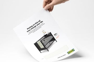 Pee on this IKEA ad and get a discount