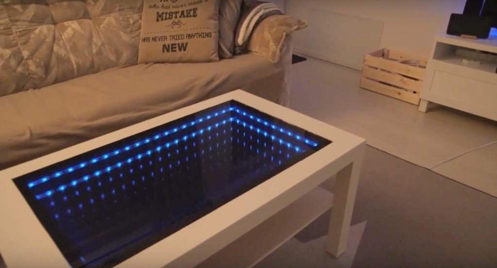 How I Transformed An Ikea Table Into An Infinity Mirror Coffee Table
