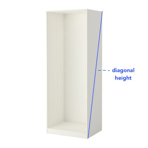 How to shorten PAX wardrobes?