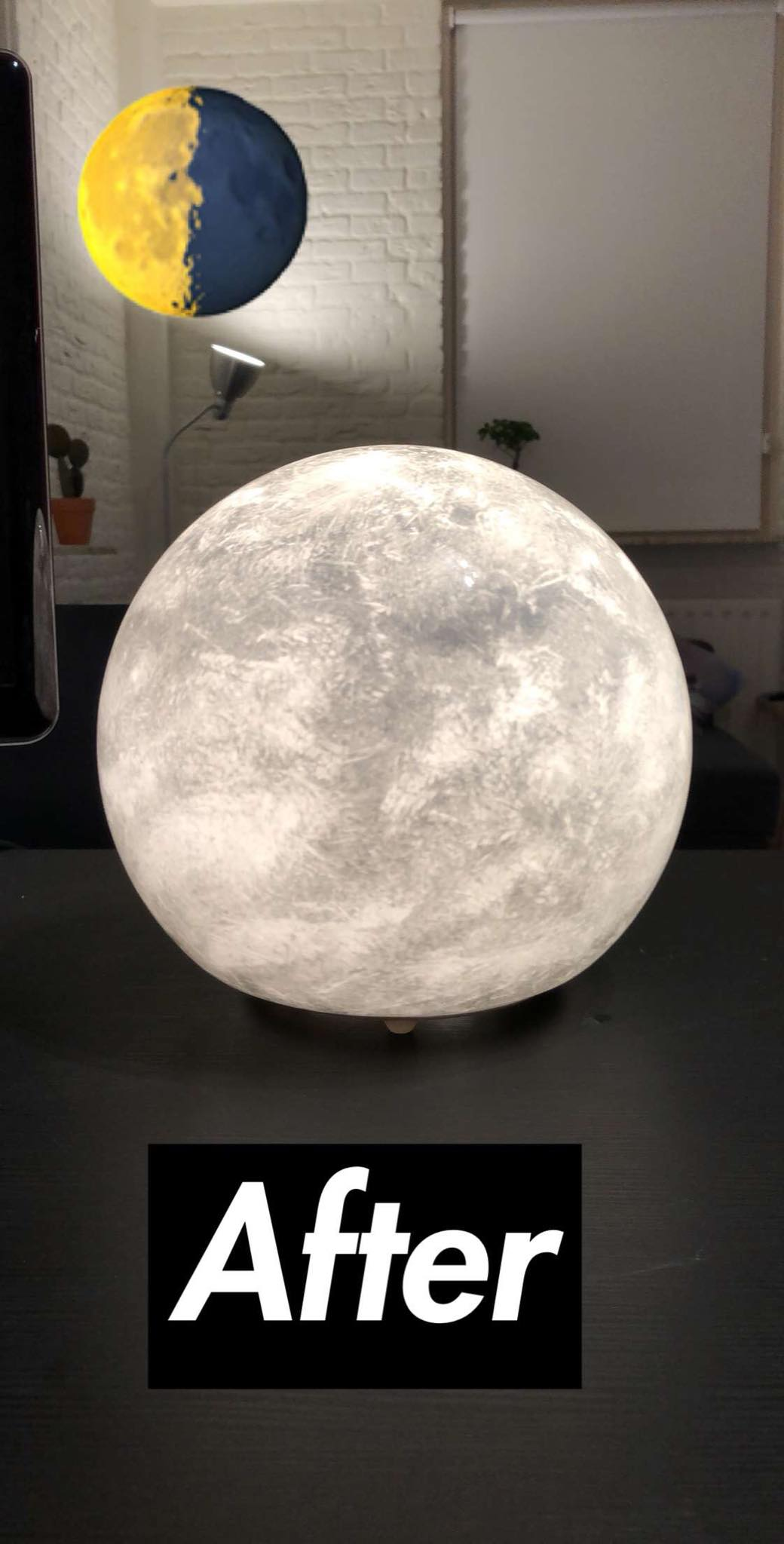 Moon lamp DIY.