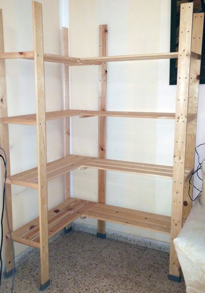 HEJNE Corner Shelf Unit in one easy step