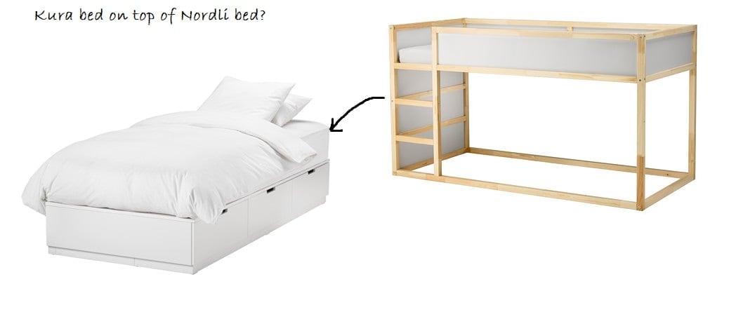 Hackers Help Kura Bed On Top Of Nordli Single Bed Ikea