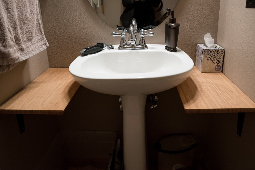 Add Counter Space To Small Bathroom With This $18 Hack