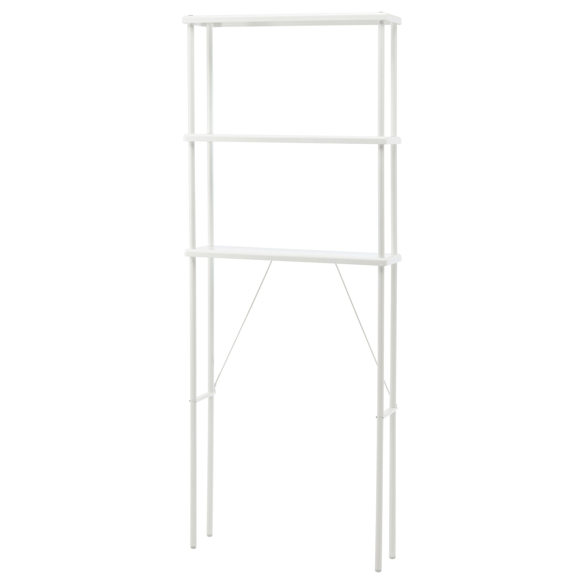 Shelf unit to straddle kitchen trash can?