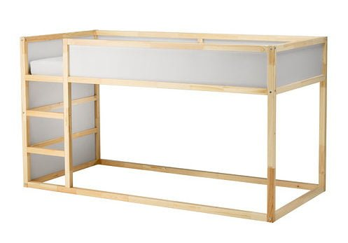 Q: Which chest of drawers fits under the KURA bed?