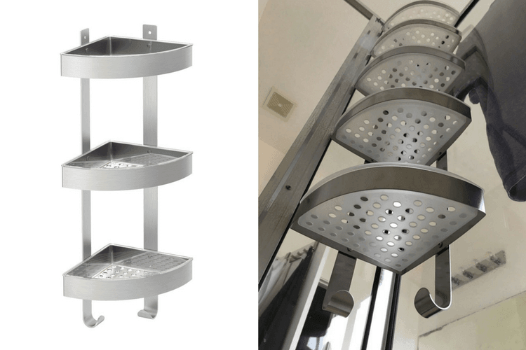 Corner shower caddy: The Grundtal extra long version - IKEA Hackers