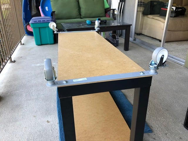 Rolling TV stand for 55