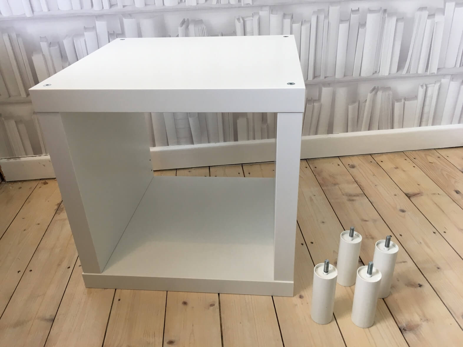 size 40 9c34f c37de Small side table with storage from KALLAX cube - IKEA Hackers