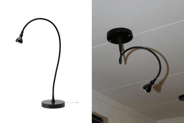 LED spotlight IKEA Jansjo hack