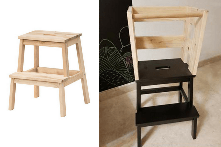 Toddler Learning Tower From Upcycled Material Ikea Hackers