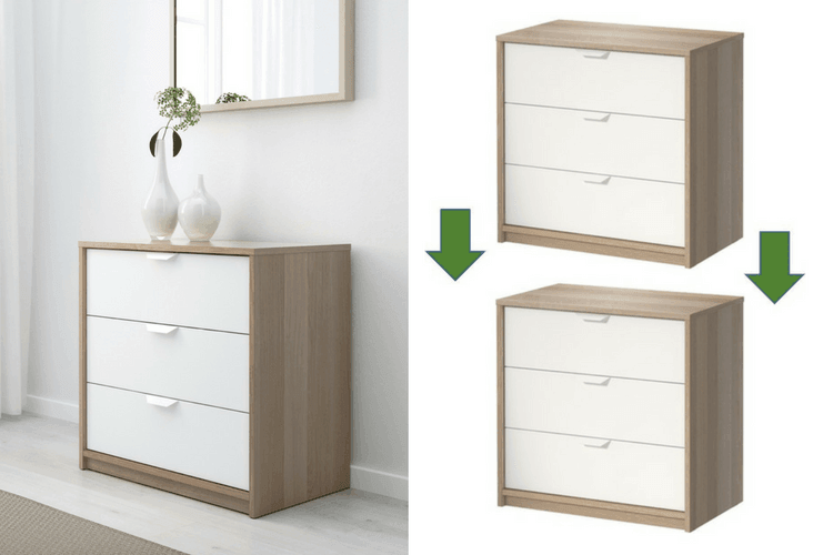 Can I Stack And Connect Two Askvoll 3 Drawer Chests Ikea Hackers