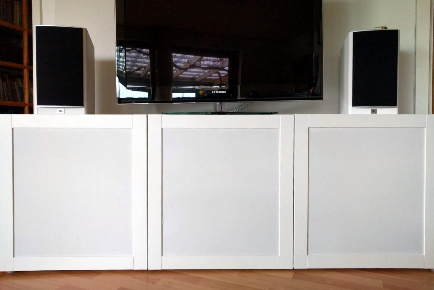 How To Hack Speaker Fabric Doors For BestÅ Tv Unit