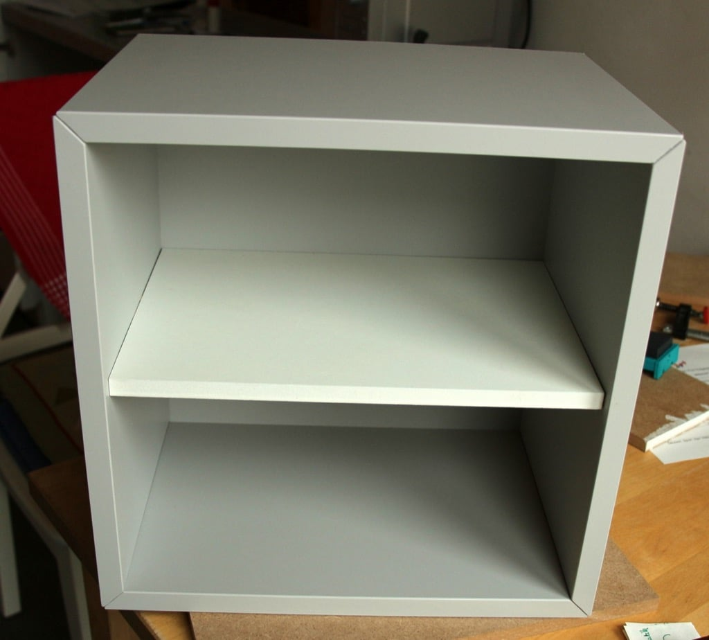 EKET CD rack: How to add a shelf to the cube