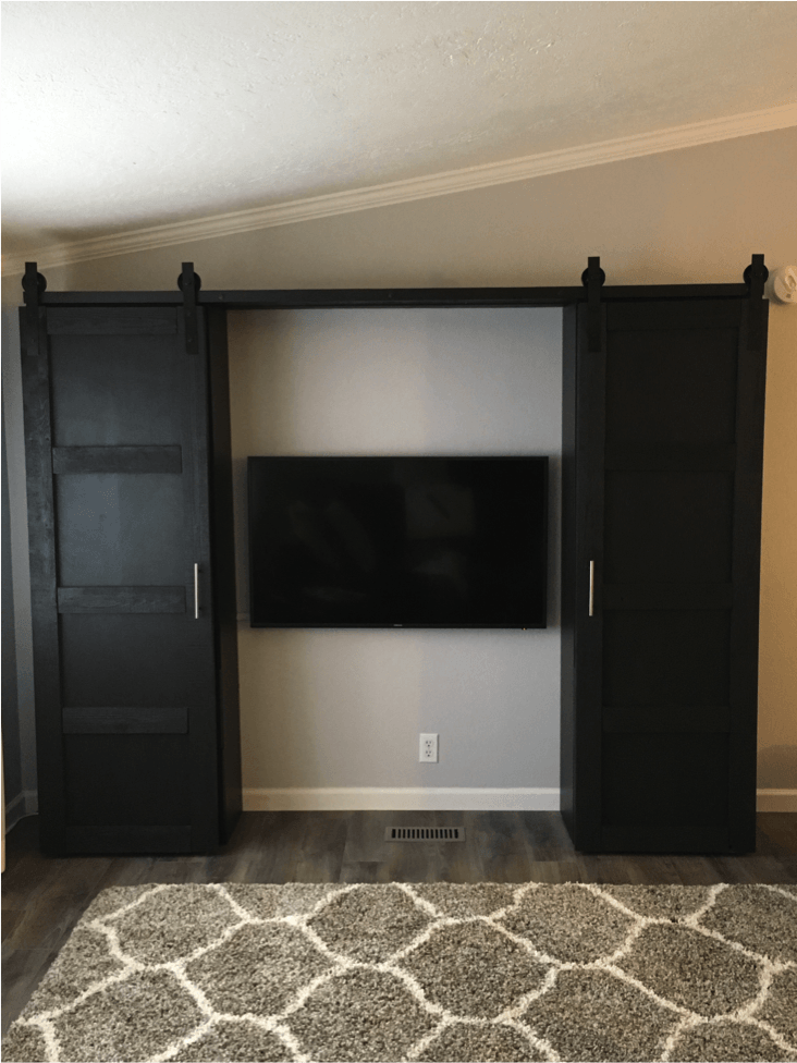 Barn Doors To Close Up An Entertainment Center Ikea Hackers
