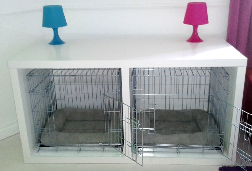Dog Crate System Housed In Desks