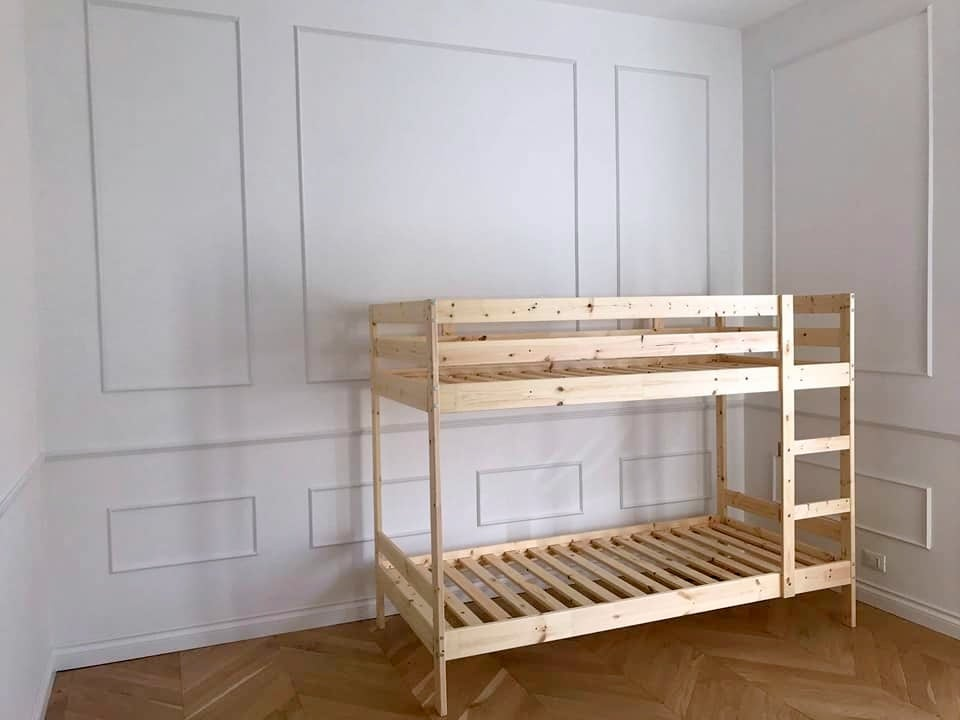 Playhouse bed for two: IKEA MYDAL hack