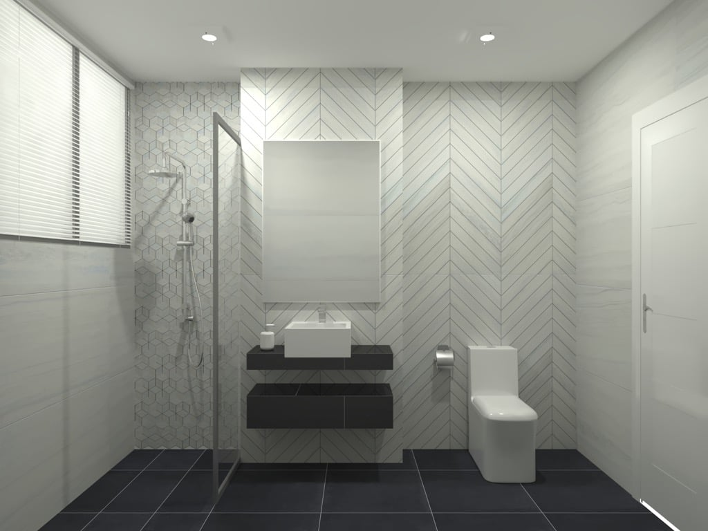 Feruni bathroom tiles - Marmo 3.0