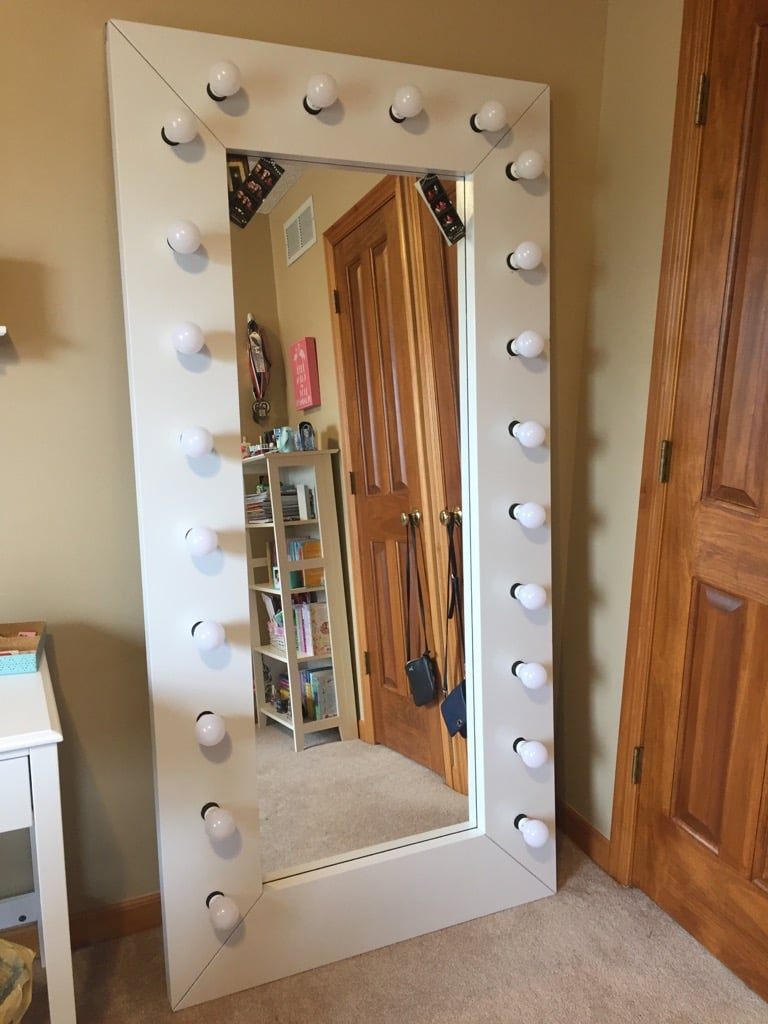 Full Length Vanity Selfie Mirror With Lights
