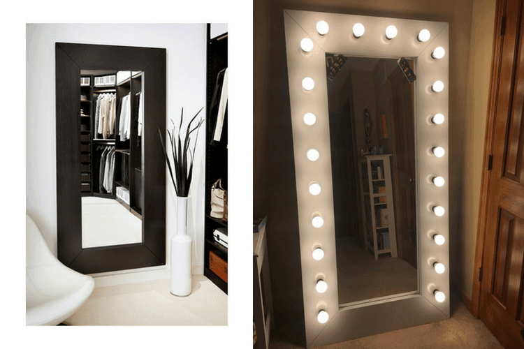 Full Length Vanity/ Selfie Mirror with Lights