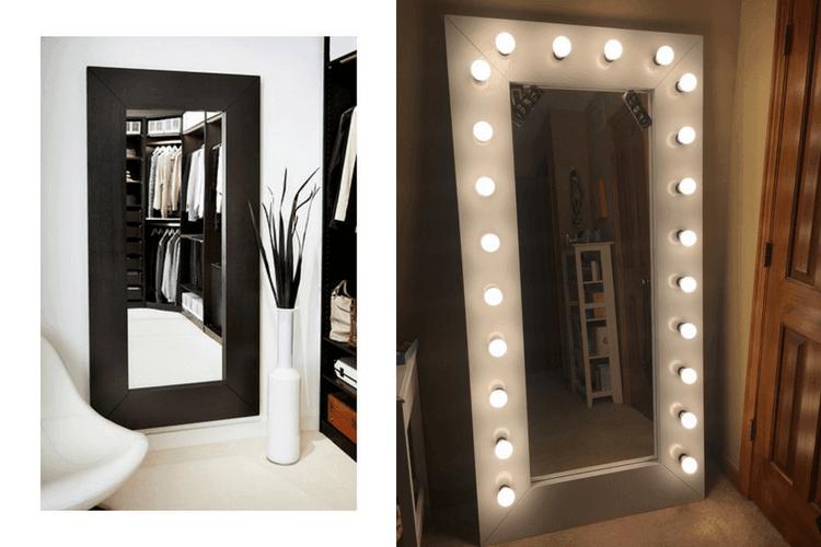 Full Length Vanity/ Selfie Mirror with Lights