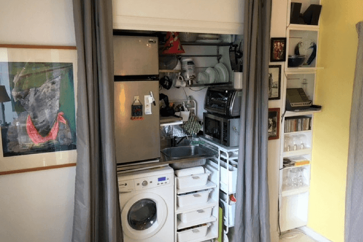 small space storage kitchen hack