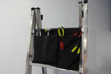 Ladder tool bag with ikea stickat