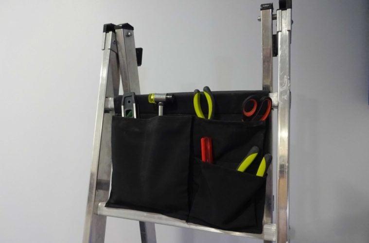 Ladder tool bag with ikea stickat