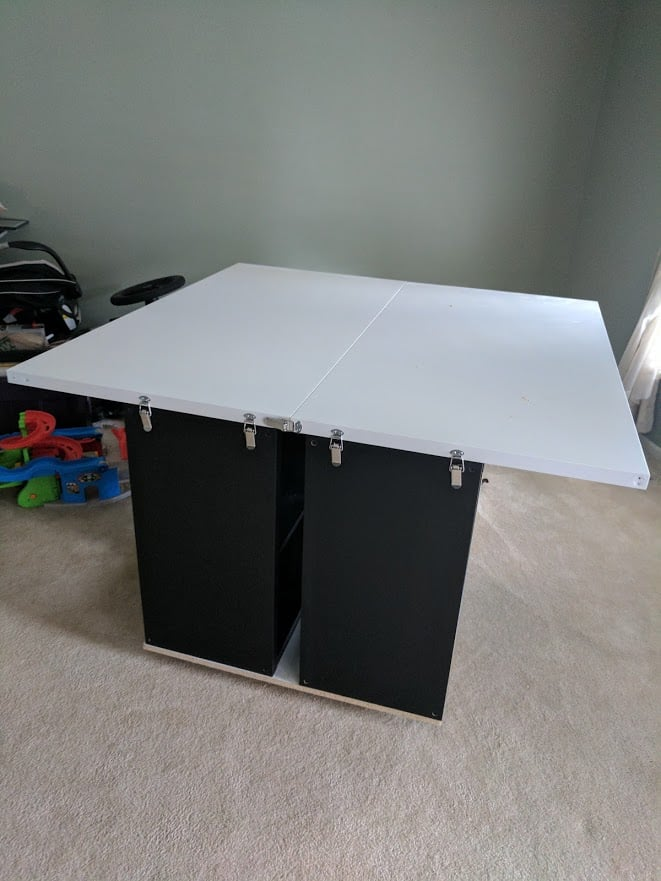 gaming table IKEA hack