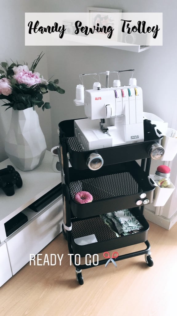 Handy Sewing Trolley - RÅSKOG cart hack