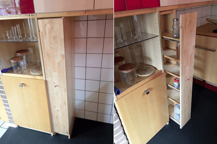 Slim Pantry Cabinet From Cd Racks Ikea Hackers