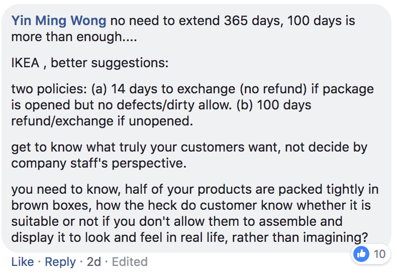 IKEA return policy - what's your experience?