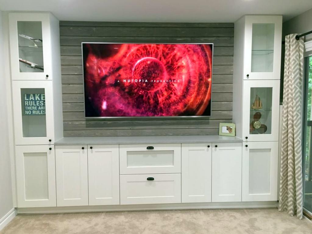 kitchen cabinet entertainment center